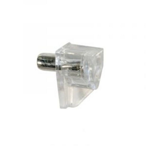 Shelf Support, Pin, Clear, 50 Pieces offers at R 23
