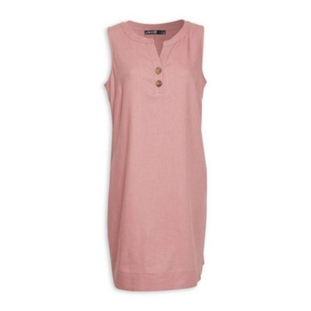 Pink Linen Sheath Dress offers at R 550