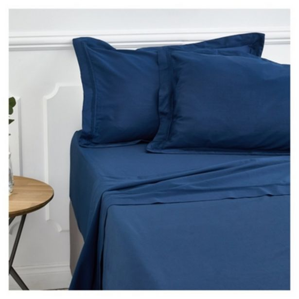 300TC Flat Sheet Navy offers at R 599