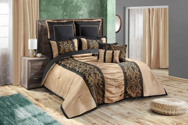 Samantha 12-piece Deluxe combo set (Queen) - Gold offers at R 3799,99