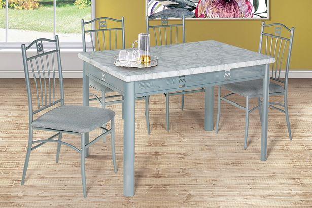 Aquarius 5-Piece Silver Kitchen Dinette offers at R 4499,99