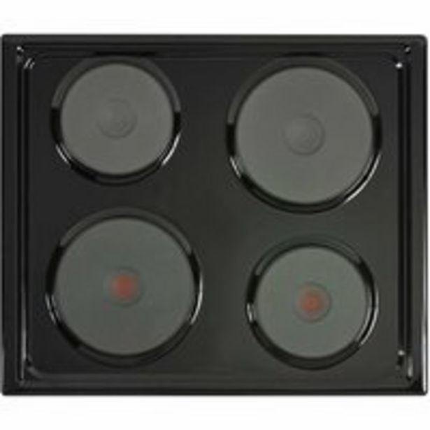 DEFY OVEN + HOB BLACK 4PLATE DCB822   offers at R 4700