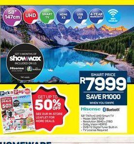 "Hisense 58"" Smart Full HD LED TV offers at R 7999"
