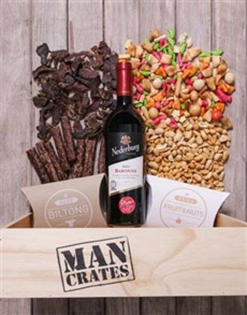 Red Wine Biltong and Nuts Man Crate offers at R 572
