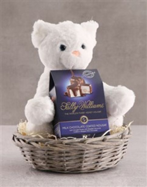 Cat Teddy With Chocolate Basket offers at R 494
