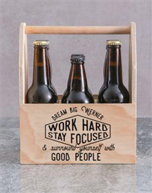 Personalised Good People Printed Beer Crate offers at R 520