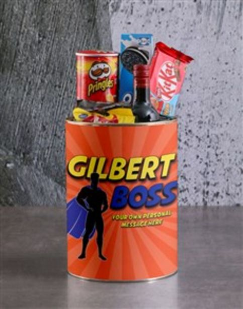 Personalised Superhero Boss Bro Bucket offers at R 390