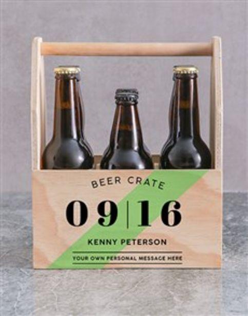 Personalised Printed Beer Crate offers at R 520