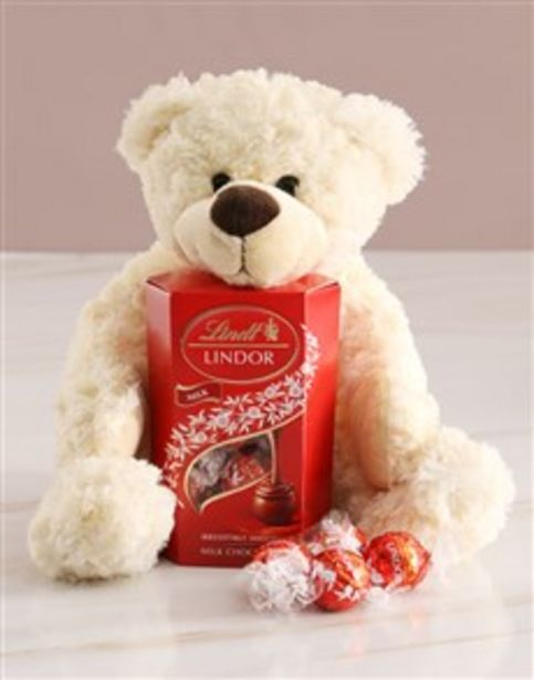 Teddy Bear With Lindt Chocolate offers at R 416