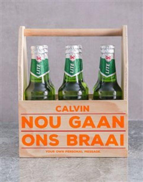 Personalised Braai Printed Beer Crate offers at R 520