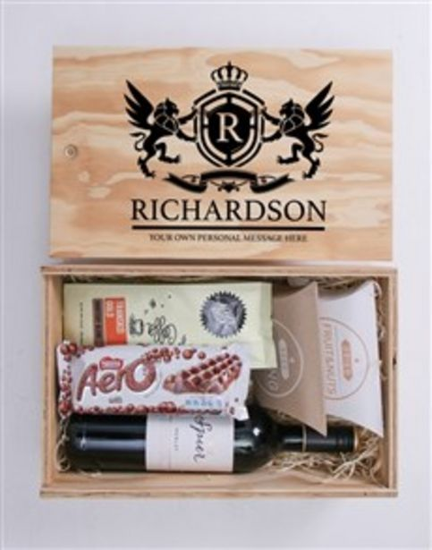 Personalised Coat of Arms Man Crate offers at R 780