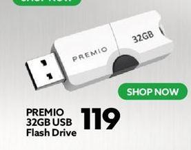 PREMIO 32GB usb Flash Drive offers at R 119