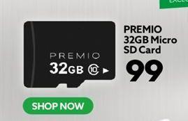 PREMIO 32GB Micro SD card offers at R 99