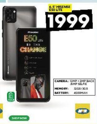 "6.5"" Hisense E50 Lite offers at R 1999"