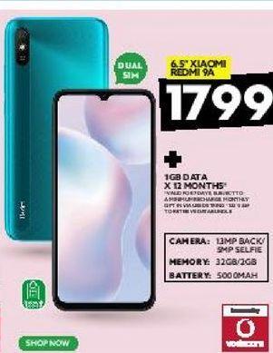 """6.5"""" Xiaomi Redmi 9A offers at R 1799"""