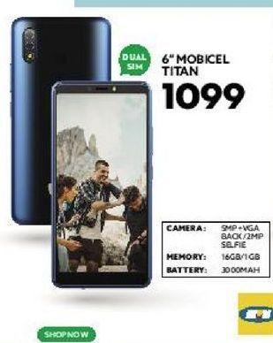"6"" Mobicel Titan offers at R 1099"