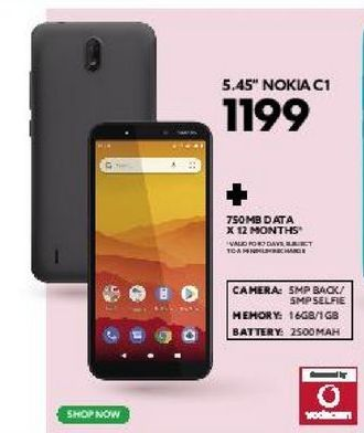 """5.45"""" Nokia C1 offers at R 1199"""