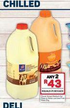 Clover Amasi Medium Cream Maas 2 offers at R 43