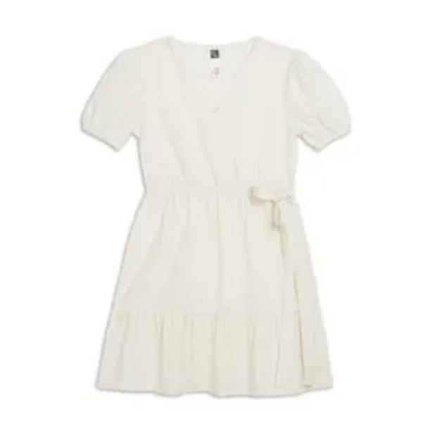 Linen wrap dress white offers at R 169,95