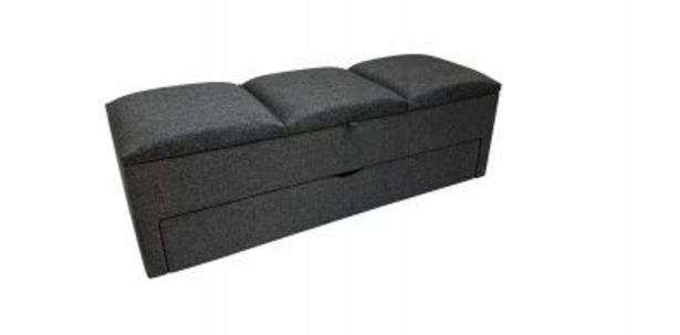 Tuscanny Blanket and Shoe Storage Ottoman in Fabric, Charcoal offers at R 4495