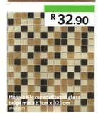 Mosaic tiles reconstituted glass beige  offers at R 32,9