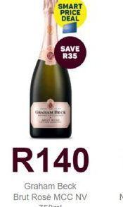 Graham Beck Sparkling Rose Wine  offers at R 140