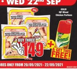 Goldi Frozen Mixed Chicken 3 offers at R 149