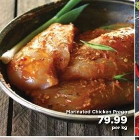 Marinated Chicken Prego offers at R 79,99