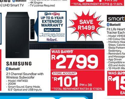 Samsung Soundbar  offers at R 2799