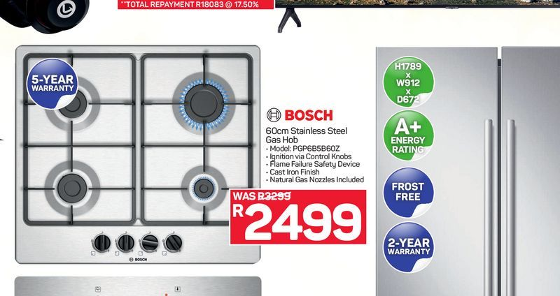 Bosch Gas Hob offers at R 2499