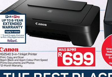 Canon Printer offers at R 699