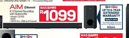 AIM Soundbar  offers at R 1099