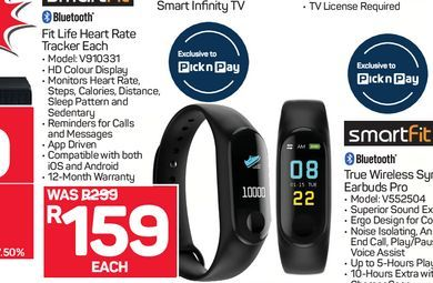 Smartfit activity tracker offers at R 159