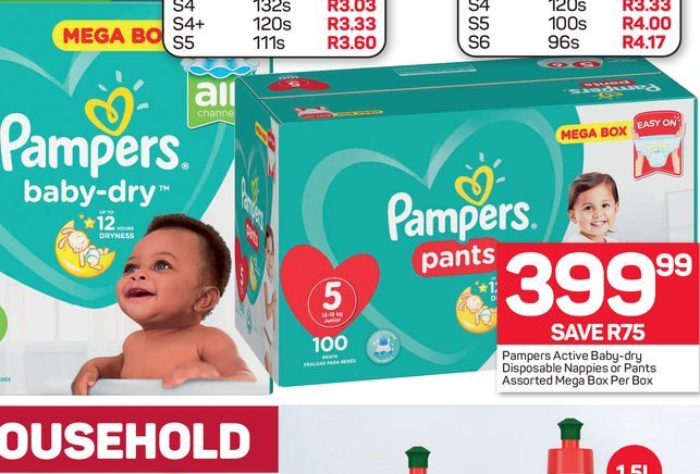 Pampers Disposable Nappies offers at R 399,99