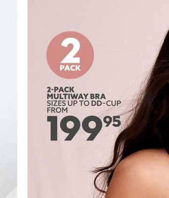 2-pack multiway bra  offers at R 199,95
