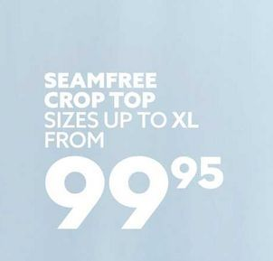 Seamfree crop top offers at R 99,95
