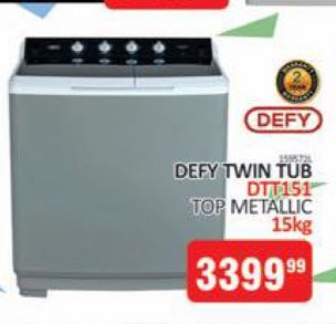 Defy washing machine offers at R 3399,99
