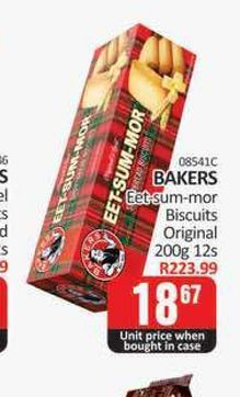 Bakers Biscuits  offers at R 18,67