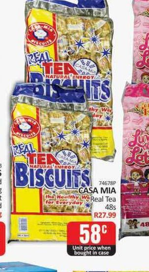 Tea biscuits offers at R 0,58