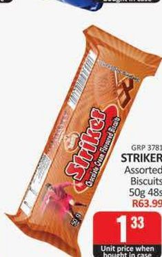 Striker Biscuits offers at R 1,33