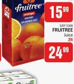 Fruitree Fruit juice  offers at R 15,99