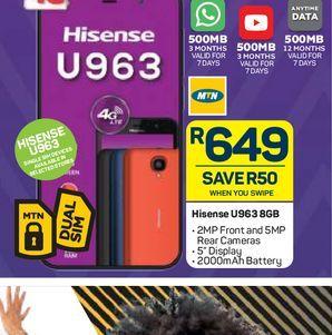 Hisense U963 Smartphone offers at R 649
