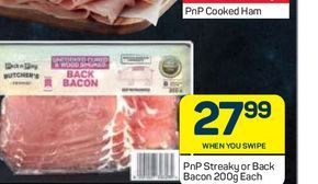 PnP bacon offers at R 27,99