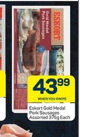 Eskort Pork Sausages  offers at R 43,99