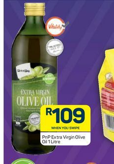 PnP Extra Virgin Olive Oil offers at R 109