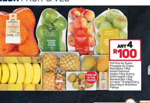 Fruit Combo 4 offers at R 100