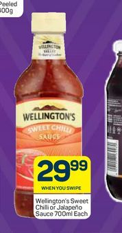 Wellington's Tomato Sauce  offers at R 29,99
