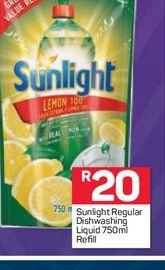 Sunlight Dishwashing Liquid  offers at R 20