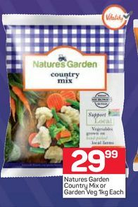 Nature's Garden Frozen Mixed Vegetables  offers at R 29,99
