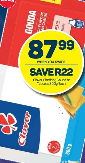 Clover Cheddar / Gouda Cheese Slices offers at R 87,99